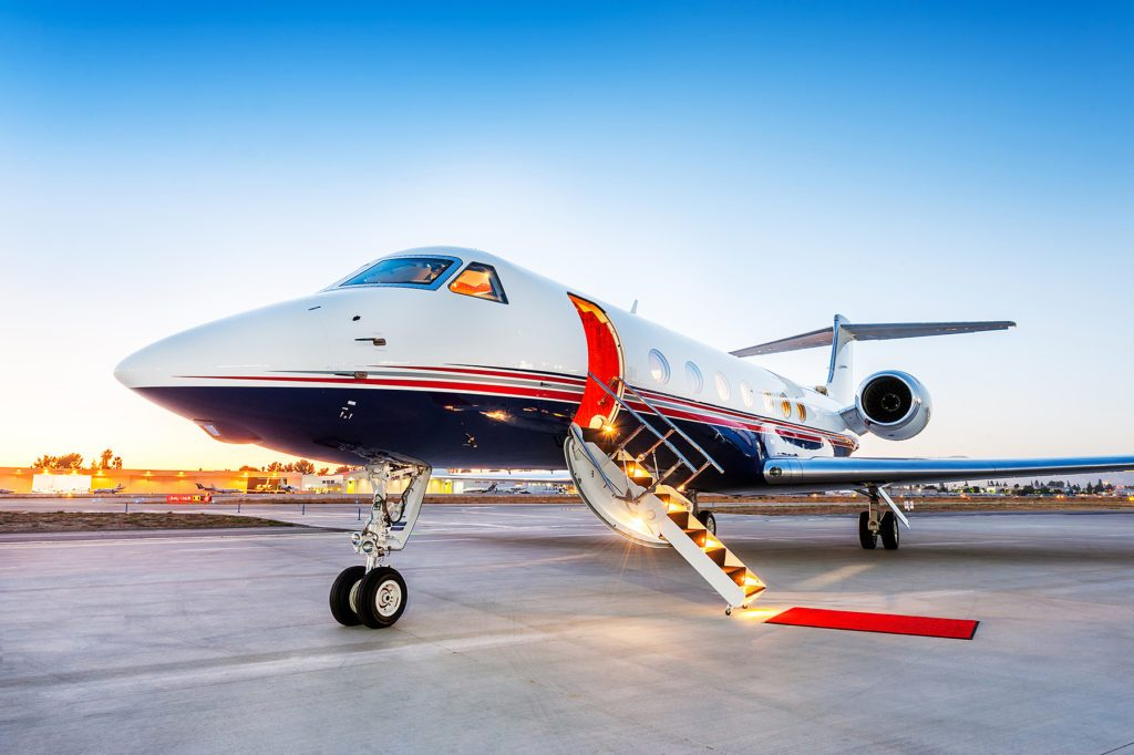 Astra Luxury Private Jet Red Carpet